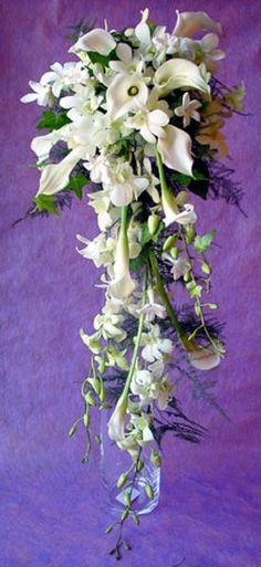 Wedding Bouquet Cascade style
