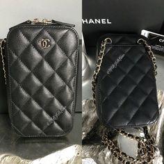 0e2e4ea2559c0 NWT CHANEL Black Caviar Phone Holder WOC Wallet On Chain MINI Crossbody  2018 NEW  CHANEL