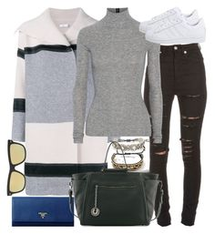 """""""Untitled #5981"""" by ashley-r0se-xo ❤ liked on Polyvore featuring Yves Saint Laurent, Vince, T By Alexander Wang, adidas Originals, Prada, Stella & Dot, Forever 21, Charles Jourdan, Spektre and women's clothing"""