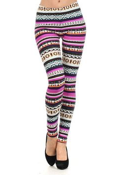Shop online for cute This fleece leggings features a mixed colorful pattern. Made from Polyester and Spandex. Tribal Leggings, Warm Leggings, Fleece Leggings, Printed Leggings, Colorful Leggings, Country Girls Outfits, Cowgirl Outfits, Cowgirl Clothing, Cowgirl Fashion
