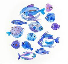 Underwater, How To Draw Hands, Illustration Art, Vibrant, Fish Ocean, Drawings, Inspiration, Animals, Instagram