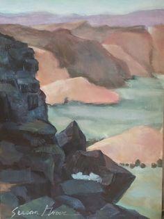 plein air oil on panel of Snow Canyon, Utah By Susan Grove Canyon Utah, Art Work, Snow, Oil, Fine Art, Painting, Artwork, Work Of Art, Painting Art