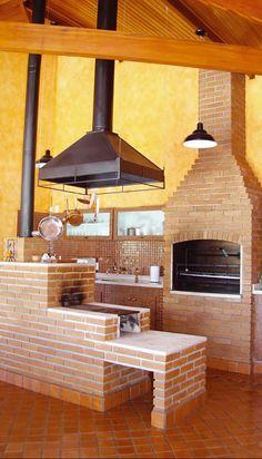 Área de lazer com churrasqueira - 21 lindas ideias
