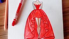 How to draw a wonderful dress