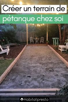 How to build a pétanque court at home? Garden Games, Backyard Games, West Elm Chandelier, Bocce Ball Court, Outdoor Lighting, Outdoor Decor, Garden Landscaping, Playground, Outdoor Gardens