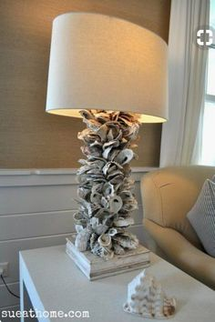Oyster Shell Lamp DIY