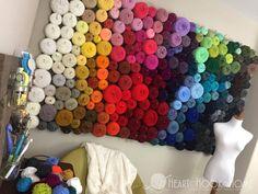 Inexpensive and easy yarn organization wall essential organizers free crochet patterns Yarn Storage, Craft Storage, Storage Ideas, Knitting Storage, Pegboard Storage, Yarn Crafts, Sewing Crafts, Diy Crafts, Yarn Display