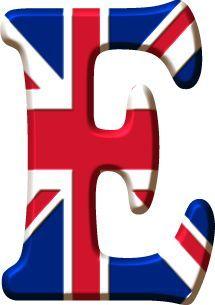 Alfabeto de la Bandera de Inglaterra.