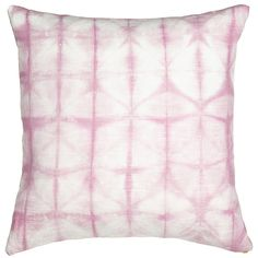 REBECCA ATWOOD Pink Lattice Shibori Pillow ($249) ❤ liked on Polyvore featuring home, home decor, throw pillows, pillows, pink throw pillows, lattice throw pillow, patterned throw pillows, pink accent pillows and pink home decor