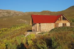 A romantic mountain lodge in the tranquil mountains of the Overberg, South Africa Mountain, Cabin, House Styles, Home Decor, Decoration Home, Cabins, Cottage, Interior Design, Home Interior Design
