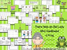 Grab these There Was an Old Lady Who Swallowed a Frog printables to integrate many skills across many subject areas.