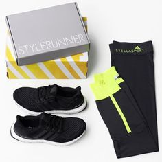 Tackle your next run with the stylish and functional adidas Ultra Boost Running Shoe. Pair them with your favourite pair of training tights - we're loving the adidas StellaSport tights in Carbon! Get the look now at Stylerunner.com #stylerunner #stylesquad