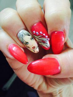 """Nails art """"face"""""""