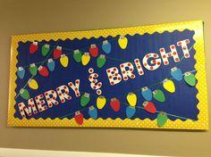 Christmas Lights Bulletin Board plus 7 more Christmas bulletin board ideas! | Rediscovering Yesterday