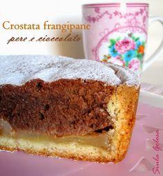 Siula Golosa: Crostata frangipane pere e cioccolato