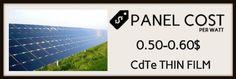 CdTe thin film ( solar panels cost image-5)