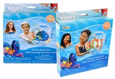 Finding Dory & Nemo 3D Characters Beach Ball x 2 ( 1 Dory , 1 Nemo ). Finding dory and nemo 3d beach ball. 2 x 3d beach ball included ( 1 nemo 1 dory ). Measures approx 12. 5 inches in diameter when inflated.