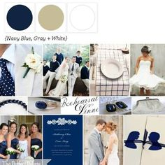 A Palette of Navy, Gray + White via The Perfect Palette. xo