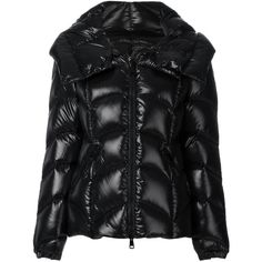 Moncler Akebia jacket (€1.005) ❤ liked on Polyvore featuring outerwear, jackets, black, moncler jacket, hooded jacket, long sleeve jacket, zip jacket and hooded zip jacket