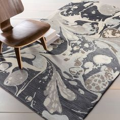 Hand-tufted Alia Abstract New Zealand Wool Rug (5' x 8')