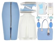 """Pencil Skirt and Sneakers"" by enola123 ❤ liked on Polyvore featuring River Island, Converse, Christian Dior, Bahina, Roads, Muse, skirt, sneakers, pencilskirt and pencilskirtandsneakers"