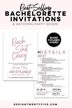 Bachelorette Party Weekend invitation and by