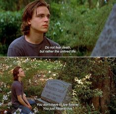 ― Tuck Everlasting Tuck: Do not fear death, but rather the unlived life. You don't have to live forever. Movies Quotes, Film Quotes, Poetry Quotes, Mood Quotes, Famous Movie Quotes, The Words, Citations Film, Tuck Everlasting, Movie Lines