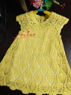 201407 cerezas amarillas - hija de manga corta de ganchillo - Yanyan Mom - Madre Yanyan