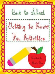 """6  great """"get to know you"""" and community-building activities that will start your new school year off right. $"""