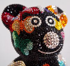 French Bruno by J. Edelweiss, Captain Hat, Glitter, French, Hats, Pink, Bulldog Breeds, Rhinestones, Crystals