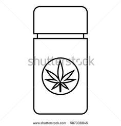 Jar pills marijuana icon. Outline illustration of jar pills marijuana vector icon for web