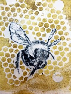 Sandra Pearce: Buzzing with drypoint and monoprinting