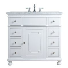 Stufurhome White Single Sink Bathroom Vanity with Carrara White Natural Marble Top at Lowe's. It's the intricate details that make a bathroom unique. Looking for the perfect modern upgrade to your bathroom. Set the tone for the entire room 36 Inch Bathroom Vanity, Single Sink Bathroom Vanity, Vanity Sink, Bath Vanities, Small Bathroom, Bathroom Ideas, Cozy Bathroom, Marble Bathrooms, Mirror Bathroom