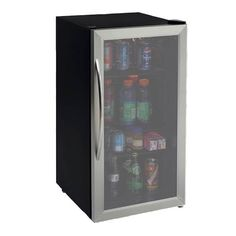 Store your beverages in the Avanti 3.1 Cu. Ft. Beverage Cooler w/ Stainless Steel Door Frame & Dual Pane Thermo Glass Door (BCA31SS-IS) and keep them cool and ready to serve. This stylishly-designed beverage cooler features a stainless steel-trimmed door and handle, which allows it to complement the decor of your kitchen, game room, or anywhere else you put it.