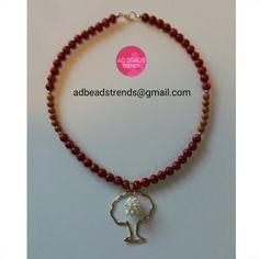 Mezclamos diferentrs clases de piedras #corales #ceŕamica #perlitasdearroz acompañado de un hermoso dije de #arbol   Un diseño sencillo... elegante ... para toda ocasión ✔ #adbeadstrends #beads #trends #panama #pty #fashionnecklace #necklace #collar #style #estilo #handmade #hechoamano #fashion #musthave #moda #modapanama ❤