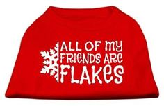 All my friends are Flakes Screen Print Shirt Red XL (16)