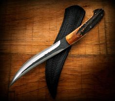 Handmade stag fixed blade