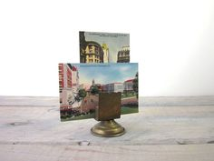 Vintage Brass Picture Paper Holder by 22BayRoad on Etsy, $12.00