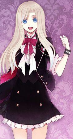 Diabolik Lovers OC ~ Shiori Ito by ForsakenSinner on DeviantArt Anime Girl Dress, Anime Girl Cute, I Love Anime, Anime Art Girl, Anime Oc, Anime Manga, Kawaii Anime, Black Butler Characters, Anime Characters