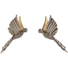 Sevan Bicakci Jeweled Parrot Stud Earrings at Barneys.com Diamond Eyes, Black Diamond, Round Earrings, Silver Earrings, Sevan Bicakci, Byzantine Jewelry, Animal Jewelry, Studs, Fashion Accessories