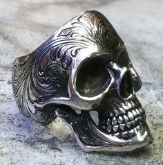 Engraved skull ring. by GerlachStyle on DeviantArt