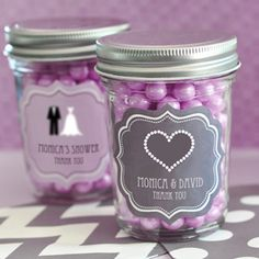 A yummy choice to match your sweet with this personalized sweet 16 or 15 mini mason jars. These adorable mason jars make perfect edible party favors that can be filled with your favorite spices,. Edible Party Favors, Sweet 16 Party Favors, Wedding Party Favors, Wedding Ideas, Wedding Planning, Wedding Candy, Wedding Quotes, Wedding Catering, Trendy Wedding
