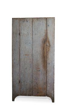 primitive blue gray cupboard