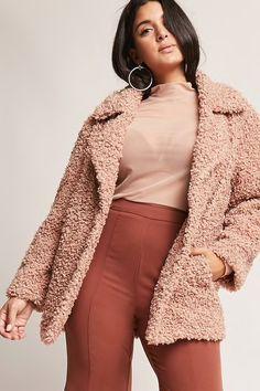 Plus Size SHACI Boucle Knit Jacket