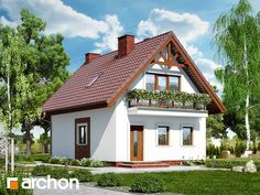 Dom w sasankach Cute Small Houses, Balcony Grill, House Construction Plan, Design Case, Home Fashion, My Dream Home, Farmhouse Decor, House Design, Cabin