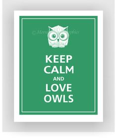 Keep Calm and LOVE OWLS Print 11x14 Color featured by PosterPop, $14.95