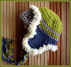 Crochet Hat Kids Hat Winter kids hats in Navy and by mybabyhats, $22.00