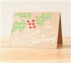 Send holiday greetings with this lovely holly card!