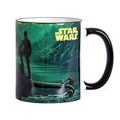 Star Wars Tasse Poe Dameron mit Sternjäger Elbenwald Keramik schwarzer Rand und Henkel