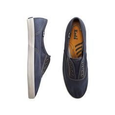 KEDS CHAMPION NOT TOO SHABBY LACELESS SHOE found on Polyvore